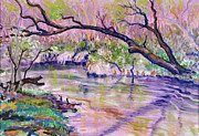 David Pastels - River Dance by David Bratzel