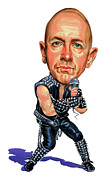 Vocalist Painting Framed Prints - Rob Halford Framed Print by Art  