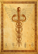 5th Digital Art - Rod of Asclepius by Li   van Saathoff