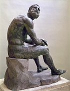 Boxer Photos - Rome Boxer Sculpture by Granger