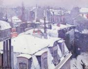 Gustave Caillebotte - Roofs under Snow