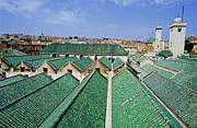 World Cities Posters - Rooftops of the buildings and mosque of the University of Al-Karaouine Poster by Sami Sarkis