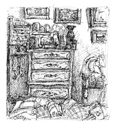 Room Study Print by Elizabeth Carrozza