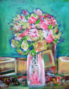 Patricia Taylor - Rose Bouquet in Pink and Green