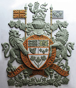 Canada Reliefs - Royal Canadian Coat of Arms by Jeremiah Welsh