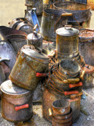 Cans Photos - Rust Buckets by Douglas J Fisher