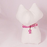 Pets Jewelry - Safety Collar with Hand-Sculpted Cat Charm in Dusty Pink by Pet Serrano