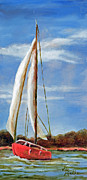 Vic Mastis Paintings - Sailing Along by Vic  Mastis
