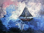 Impressionism Originals - Sailing the Storm by Gayle McGinty