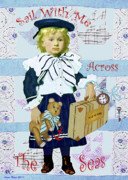 Beach Cottage Decor Posters - Sailor Boy Poster by Anne Hunt