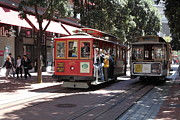 Wingsdomain Art and Photography - San Francisco Cable Cars at The Powell...