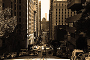 Wingsdomain Art and Photography - San Francisco California Street . sepia...