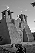 Landmark Pyrography Framed Prints - San Francisco de Asis Mission Church 8 Framed Print by Lou  Novick