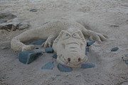 Science Fiction Sculptures - SAnd dragon by Karen Elzinga