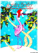 Lizi Beard-Ward - Santa Baby flamingo