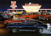 Daytona Framed Prints - Saturday Night 1970 Framed Print by Bruce Kaiser
