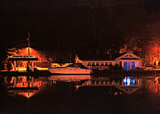A Summer Evening Prints - Saugatuck Chain Ferry Print by James Rasmusson