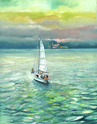 Alcatraz Paintings - Scape from Alcatraz by Graciela Placak