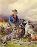 James Jnr Hardy - Scottish Boy with Wolfhounds in a...