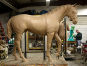 Kim Corpany - Seabiscuit bronze larger than life size...