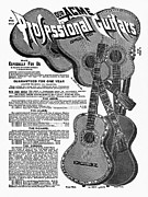 Advertisement Drawings - Sears Ad - Guitars 1902 by Granger