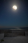 Charles Warren Acrylic Prints - Seaside moonset Acrylic Print by Charles Warren