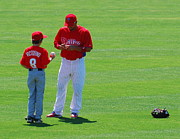 Phillies Photo Prints - Shane Victorino  Print by Carol Christopher
