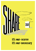 Patriotic Mixed Media - Share Sugar Its War Scarce by War Is Hell Store