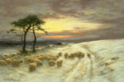 Joseph Farquharson - Sheep in the Snow
