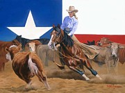 Hall Painting Prints - Sheila Welch And Doc-o-leo Print by Howard Dubois