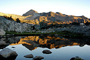 Saddlebag Posters - Sierra Sunrise Reflection Poster by Keith Ducker