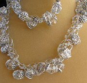 Necklace Jewelry - Silver and Ice Crystals by Annette Tomek