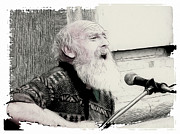 Old Man Digital Art - Singing the Old Songs by Tilly Williams