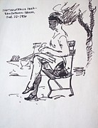 Towns Drawings - Sitting Pretty by Bill Joseph  Markowski