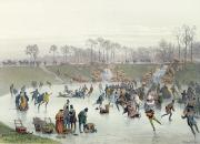 Ice Skaters on the Lake at Bois de Boulogne - Skaters on the Lake at Bois de Boulogne
