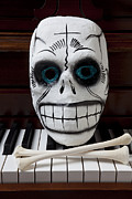 Keyboards Prints - Skull mask with bones Print by Garry Gay