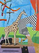 Jeffrey Frisch - Skyworms with Giraffe and Ficus Tree