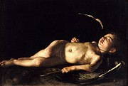 Sleeping Art - Sleeping Cupid by Pg Reproductions