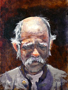 "\""sleepless Old Man\\\"" Framed Prints - Sleepless Nights Framed Print by J P Childress"