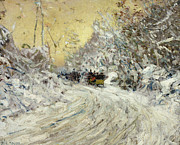 Childe Hassam - Sleigh Ride in Central Park