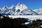Grand Tetons Prints - Snake River Winter Overlook Print by Greg Norrell