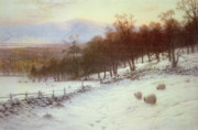 Joseph Farquharson - Snow Covered Fields with Sheep