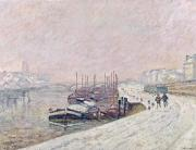 Jean Baptiste Armand Guillaumin - Snow in Rouen