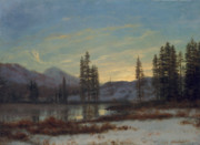 Albert Bierstadt - Snow in the Rockies