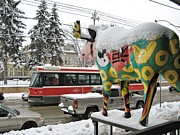 Alfred Ng - Snow Moose With Streetcar