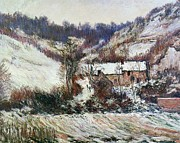 Claude Monet  - Snow near Falaise