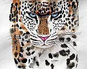 Big Cats Paintings - Snow Queen by Maria Barry