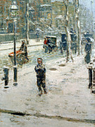 Childe Hassam - Snow Storm on Fifth Avenue