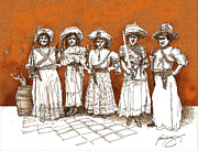 V.d. Gleisberg Mixed Media - Soldaderas Mexicanas by Dean Gleisberg