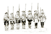 Randy Steele - Soldiers at Attention Septia Sketch